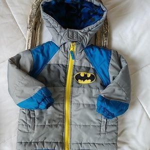 Toddler BatMan winter coat. Size 2t